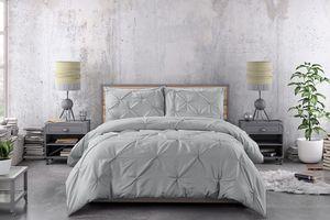 Dekbedovertrek Lovely Pintuck Grey (240 x 220 cm)