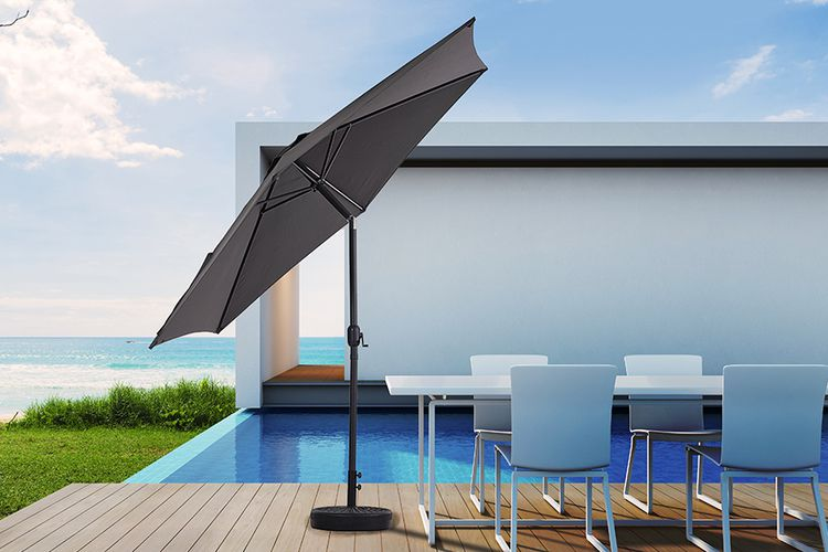 Parasol met kantelsysteem van Feel Furniture (Ø 300 cm)