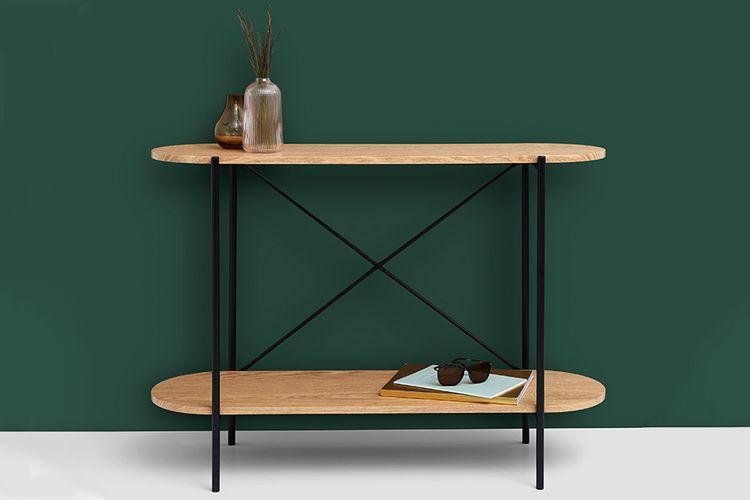 Moderne houten wandtafel (100 x 30 x 75 cm)