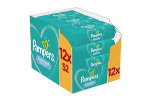 Pampers Fresh Clean-doekjes (12 x 52 stuks)
