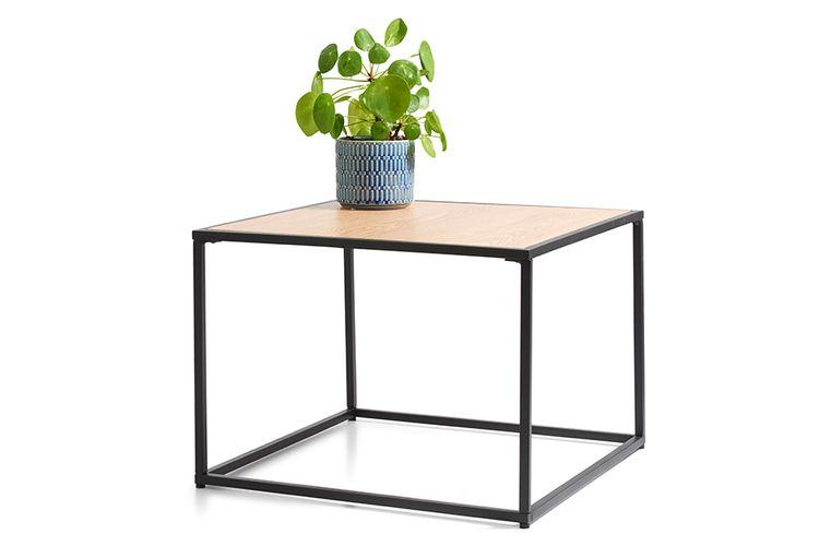 Moderne houten bijzettafel (49 x 49 x 35 cm)