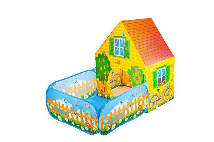 Speeltent huis met tuin (150 x 90 x 110 cm)