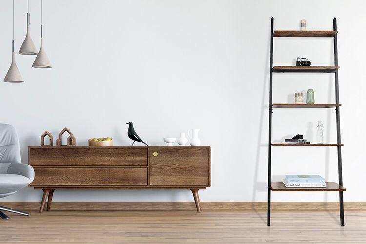 Stalen boekenkast met 5 planken (180 x 48 x 64 cm)