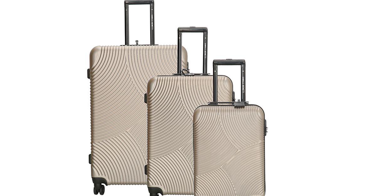 Lot de 3 valises Enrico Benetti (couleur : champagne)