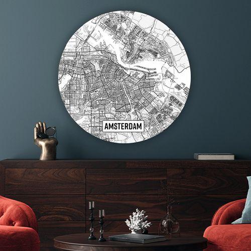 Nederlandse stad naar keuze op wandcirkel (50 steden)