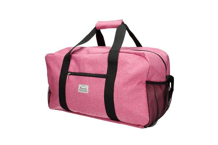 Roze sport- en reistas met verstelbare schouderband