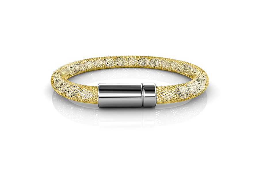 Goudkleurige armband met Swarovski-elementen
