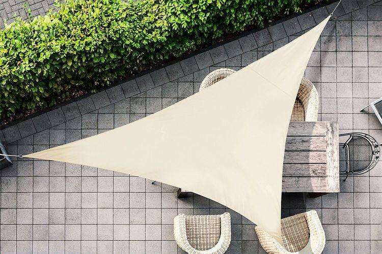 Driehoekige cr�me schaduwdoek (3.6x3.6x3.6m)