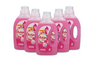 5 flessen wasmiddel van Robijn (5 x 1,1 liter)