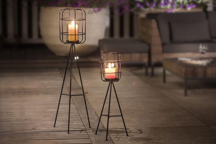 Set van 2 sfeervolle metalen lantaarns van Lifa Living