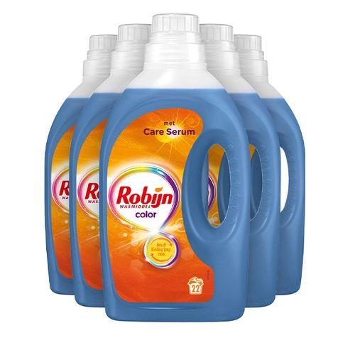 5 flessen Robijn-wasmiddel