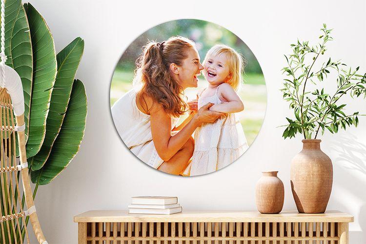 Korting Jouw foto s op een muurcirkel (ø 50 x 0,5 cm)