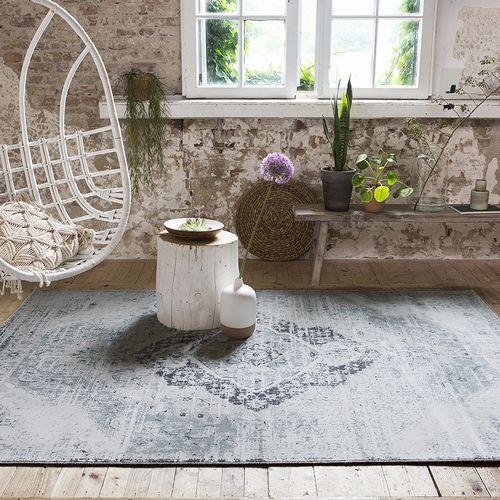 Korting Beige en zilverkleurig vloerkleed (160 x 230 cm)