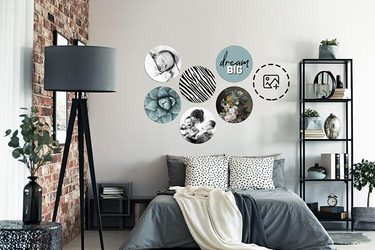 Jouw foto's op een MuchoPix Circle (4 stuks 15 x 15 cm)