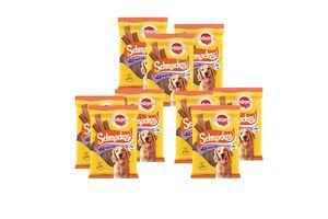 9 pakjes vleesstrips voor honden van Pedigree