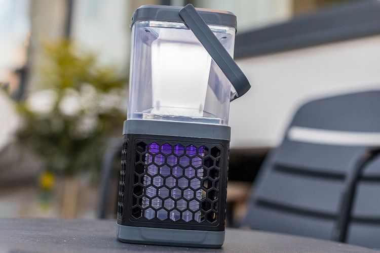 Anti-muggenlamp op zonne-energie (28 cm hoog)