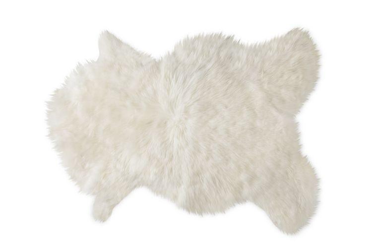 Zacht kleed van schapenwol (70 - 80 cm)