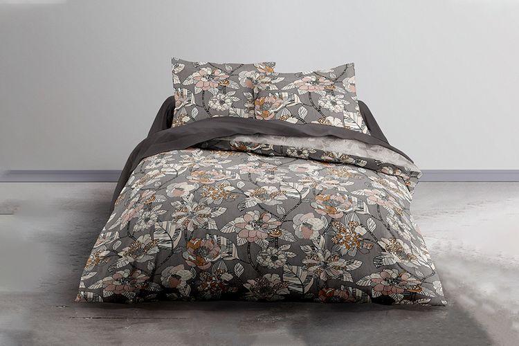 Katoenen dekbedovertrek Bloemen (240 x 220 cm)