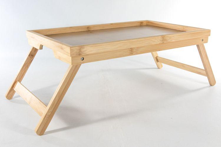 Bedtafel van bamboe (50 x 30 x 20 cm)