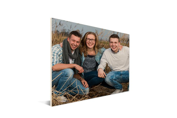 Fotoafdruk op houten plaat (40 x 60 cm)