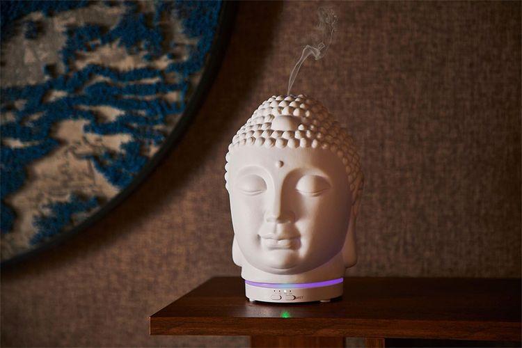 Buddha luchtbevochtiger met geurdispenser van MOSS