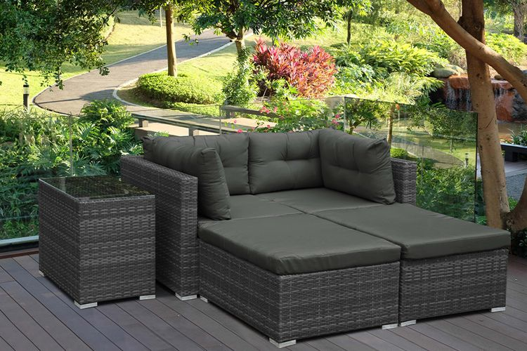 5-delige loungeset voor je balkon of tuin