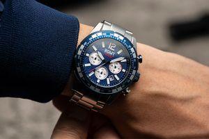 Herenhorloge met blauwe wijzerplaat van RGMT