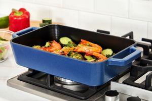 Gietijzeren ovenschaal van Buccan (mat blauw)