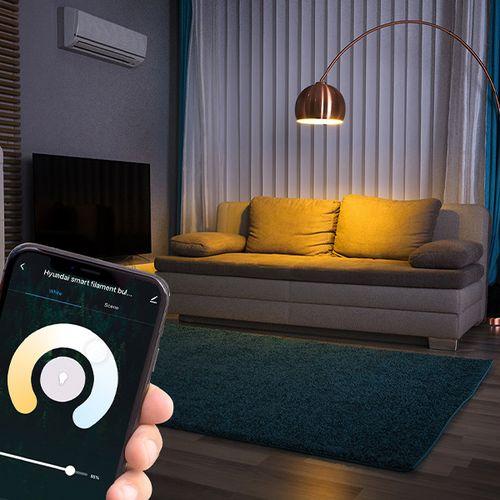 Korting 2 slimme wifi lampen van Hyundai Home (Classic Filament)