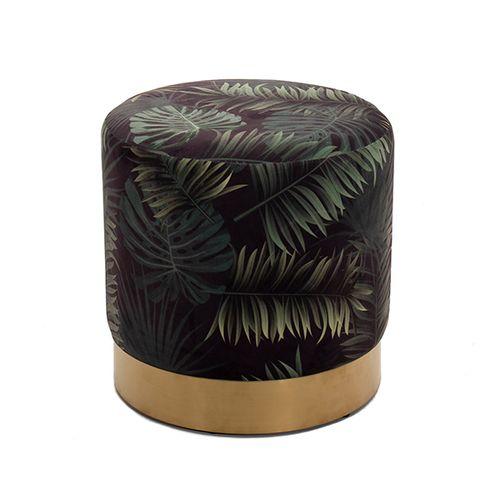 Poef met palmbladprint van Lifa Living (Beau)
