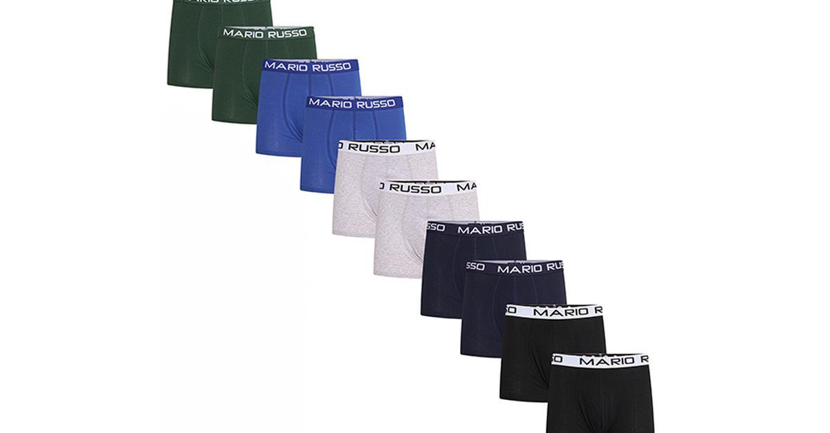 10 boxers Mario Russo (taille : M jusqu'à XL)