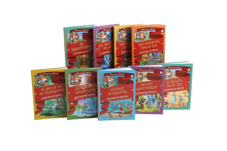 Geronimo Stilton-boekenpakket met 9 boeken