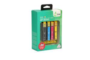 4 cartridges voor HP-printers (4 kleuren)