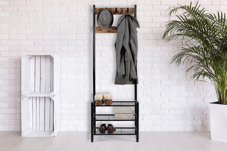 Stalen garderoberek (70 x 30 x 175 cm)