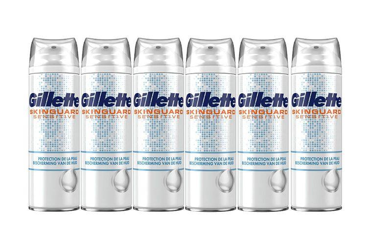 6 flessen Gillette SkinGuard Sensitive scheerschuim
