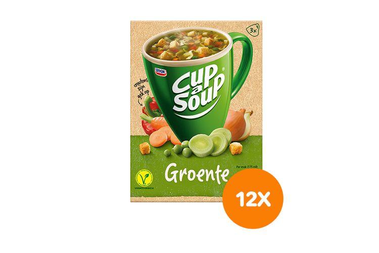Korting 12 pakken Unox groentesoep