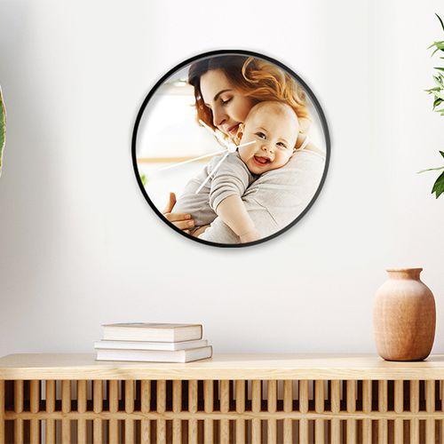 Wandklok met eigen foto (30 cm)
