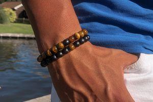 Lot de 2 bracelets en pierres naturelles