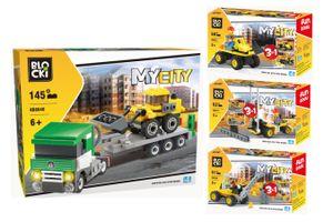 4 véhicules de construction Blocki