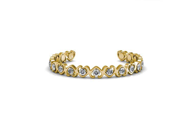 Goudkleurige armband met hartjes van Yolora