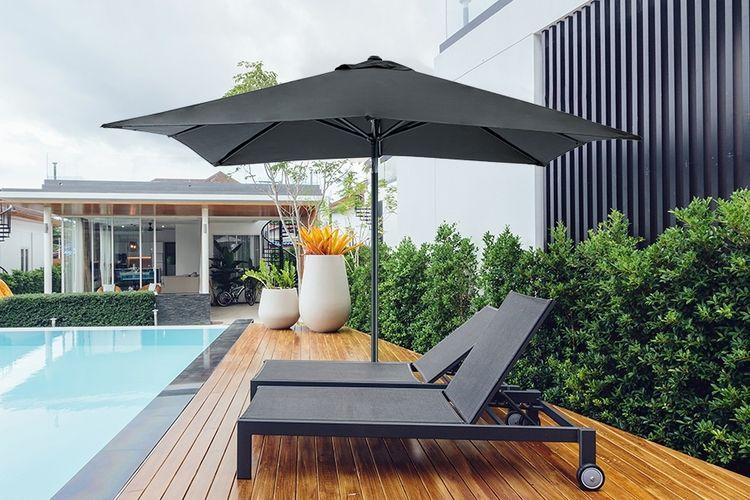 Vierkante parasol van Feel Furniture (breedte: 2,5 m)