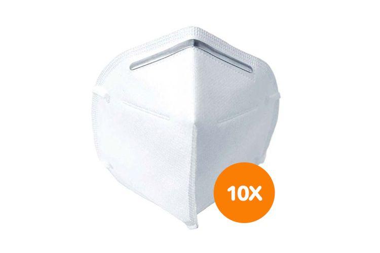 SlaJeSlag 10 witte FFP2-mondkapjes (5-laags)