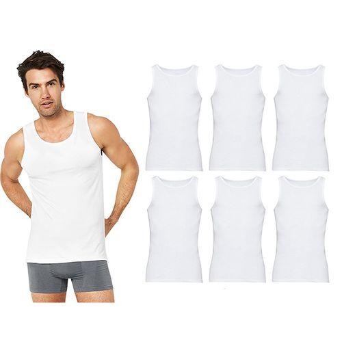 6 witte herenhemden