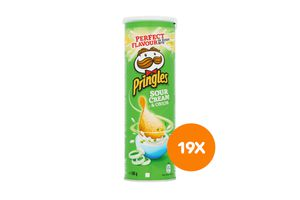 19 bussen Pringles Sour Cream & Onion