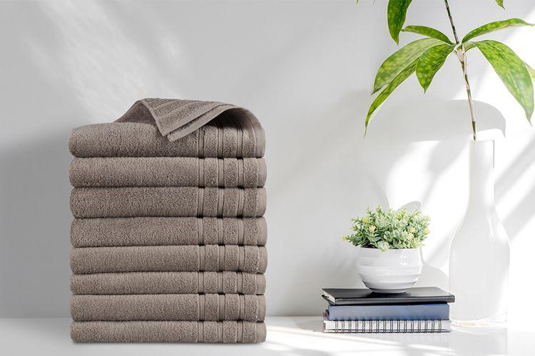 Korting 8 luxe taupe handdoeken van EMSA Bedding (50 x 100 cm)