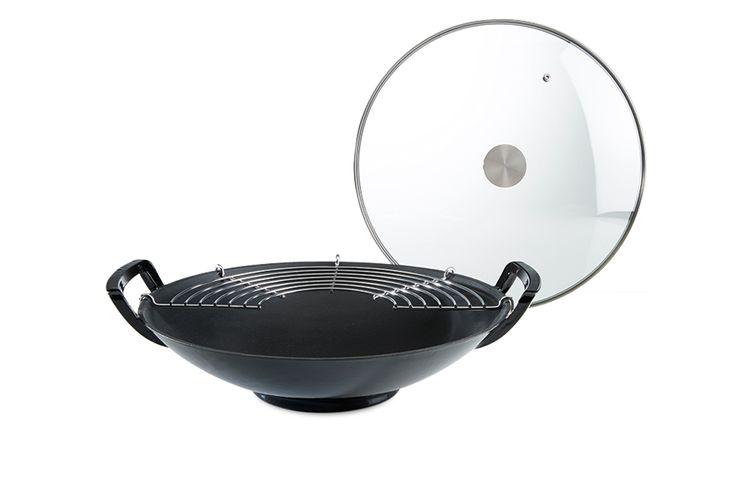 wok cyril lignac wok en fonte avec couvercle de cyril lignac vavabid participez aux ench res. Black Bedroom Furniture Sets. Home Design Ideas