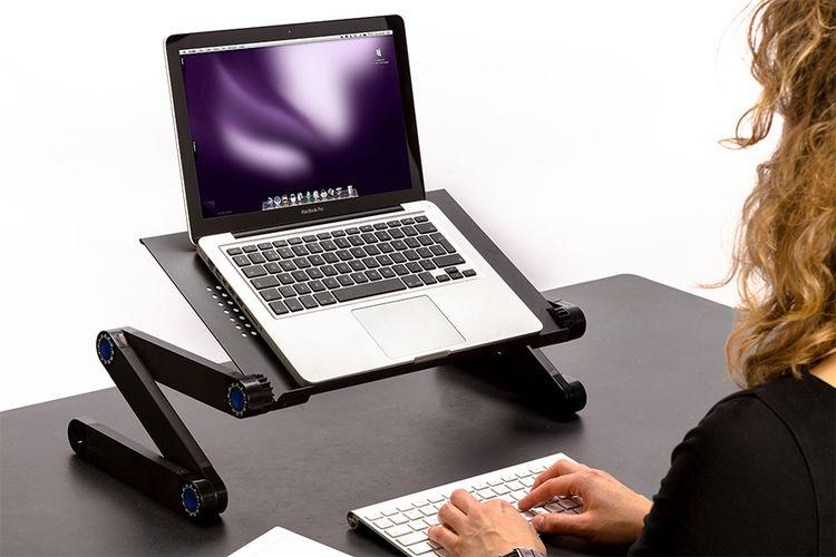 Verstelbare laptoptafel (42 x 26 x 48 cm)