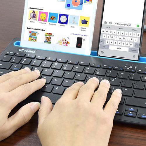 Draadloos toetsenbord met tablethouder