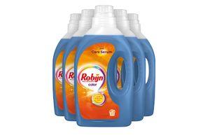 5 bouteilles de détergent Robijn