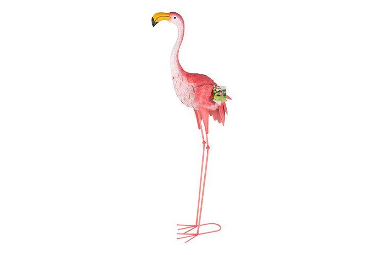 Decoratie flamingo voor in de tuin (44 x 18,5 x 104 cm)
